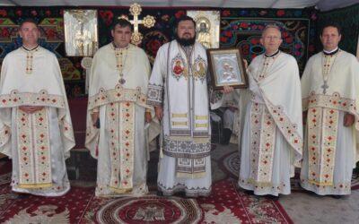 Binecuvântarea lucrărilor efectuate la biserica veche a Parohiei Ortelec